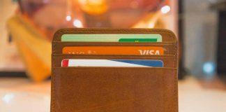 Wallet with visa cards inside