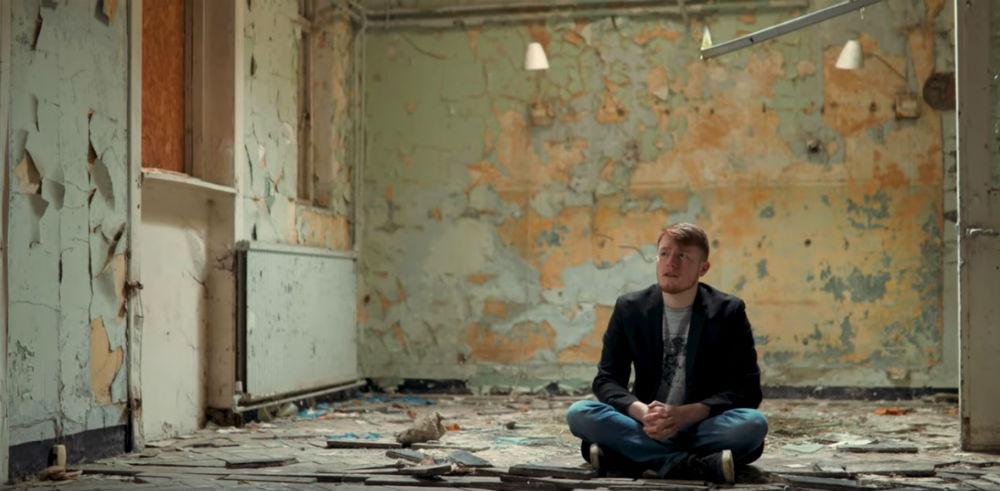 Ross Arthur inside the abandoned East Fortune Hospital