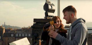 Ross Arthur on top of Camera Obscura filming 'Soar'