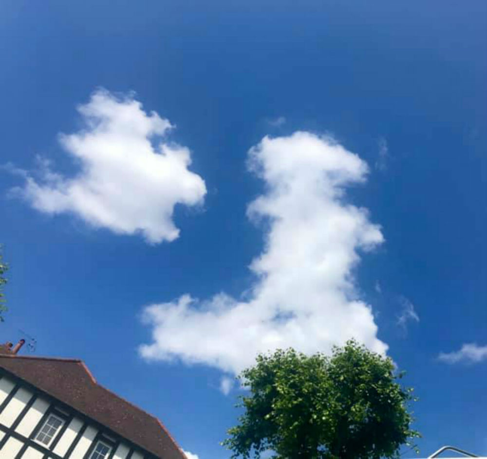 Clouds shaped like Britain