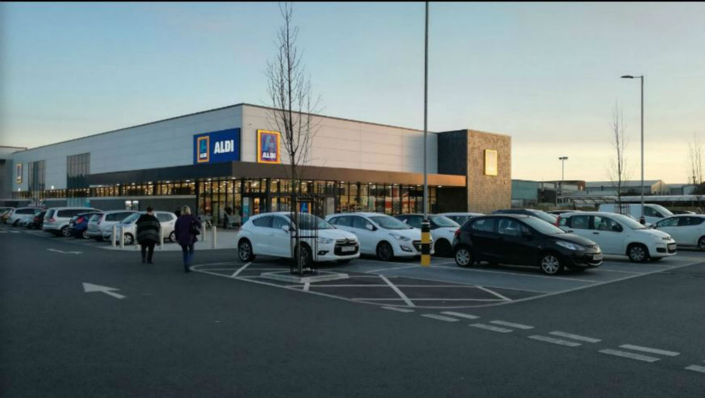 Aldi at Rustington where the incident took place