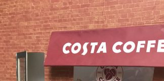 Hamster at Costa coffee