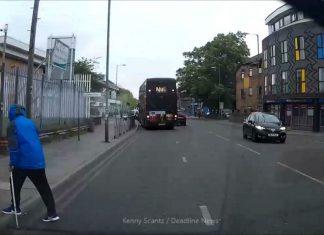 Man stood in street