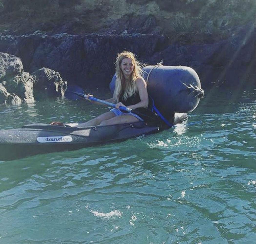 Helen in kayak