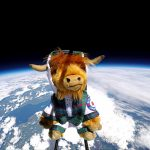 VisitScotland Highland Cow In Space!