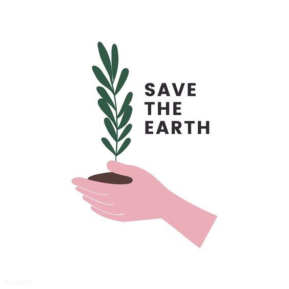 Save the earth logo