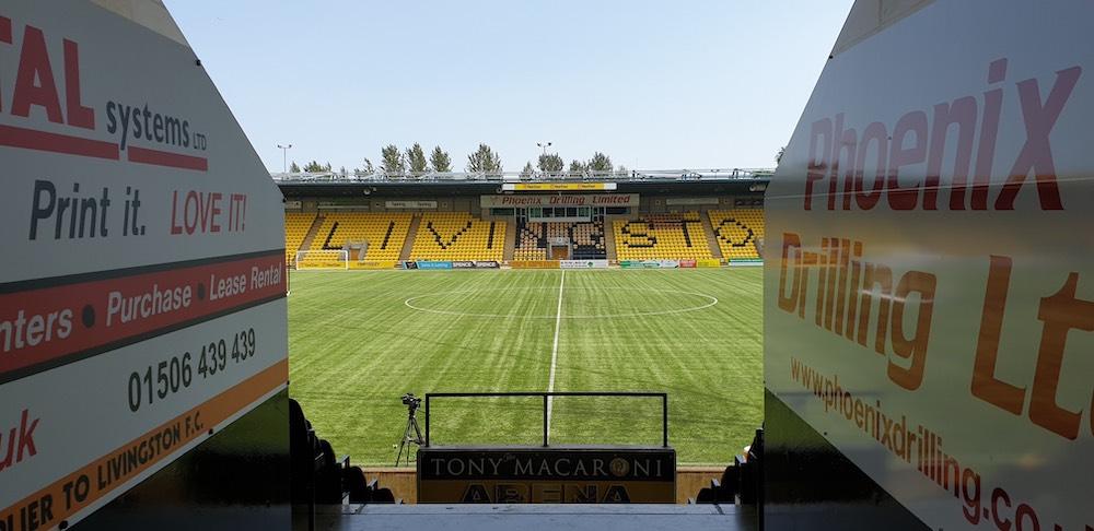 View onto the pitch of Livingston's Tony Macaroni Arena | Livingston news