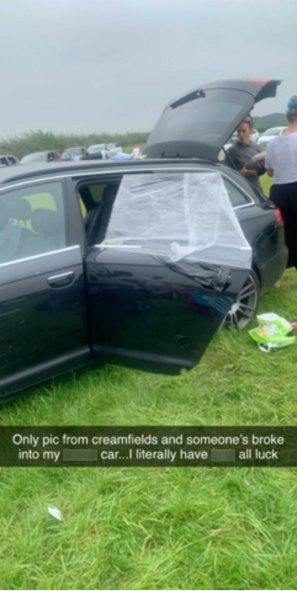 Cars at Creamfields were vandalised and broken into in the car park