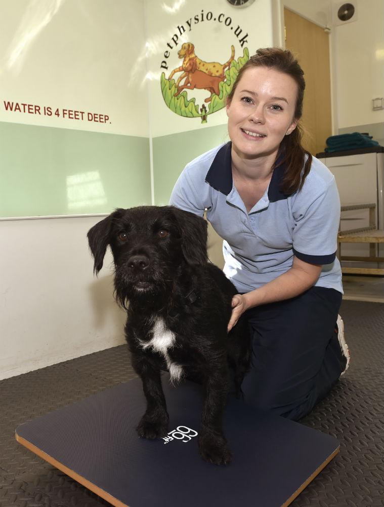 Rachel with dog