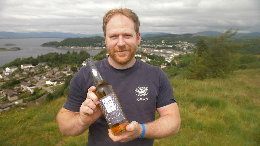 Derek MacLean with Old Teddy MacLean bottling