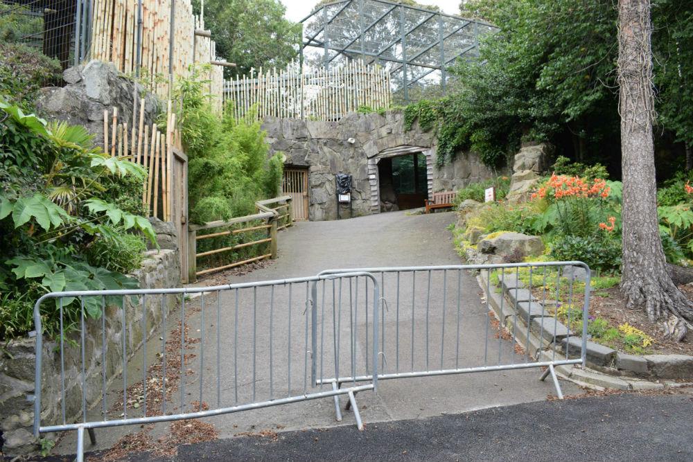 empty fence edinburgh zoo