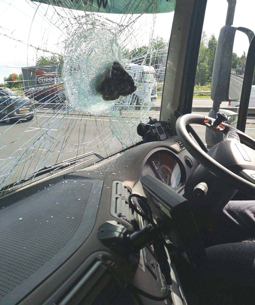 The rock in the windscreen.