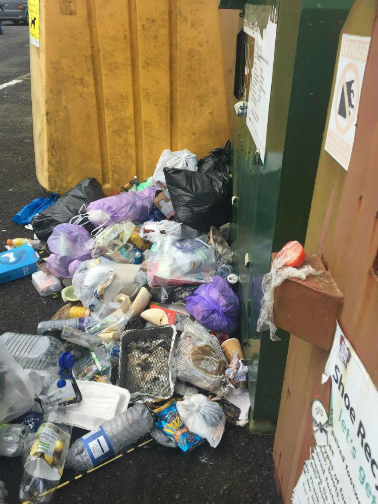 overflowing rubbish