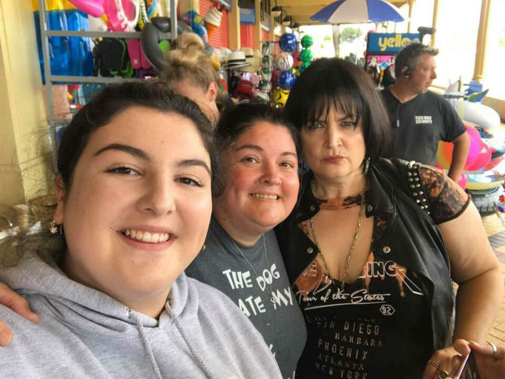 Ruth Jones with fans