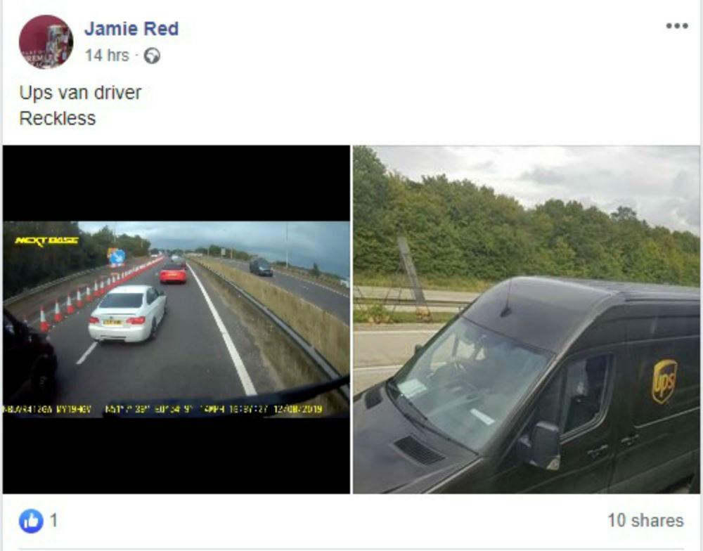 Facebook post-Dashcam Clips