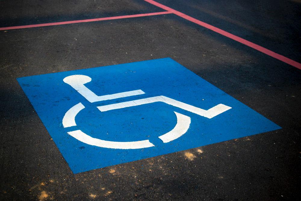 Disabled bay sticker
