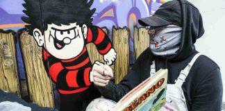 Beano artist sleek with his fleet street artwork
