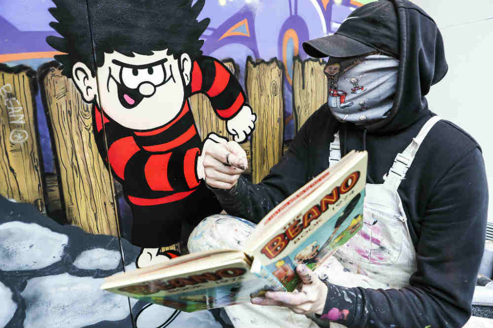 Beano artist sleek with his fleet street artwork