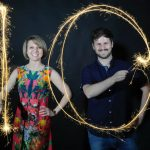 Image of MagicFest event producer Svetlana McMahon and magician Kevin Quantum