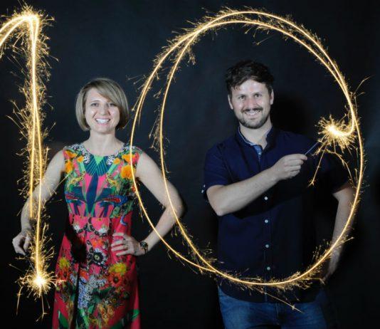 Image of MagicFest event producer Svetlana McMahon and magician Kevin Quantum