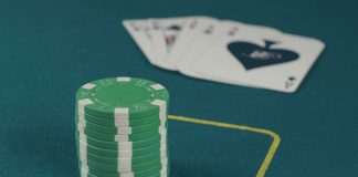 Poker chip and card