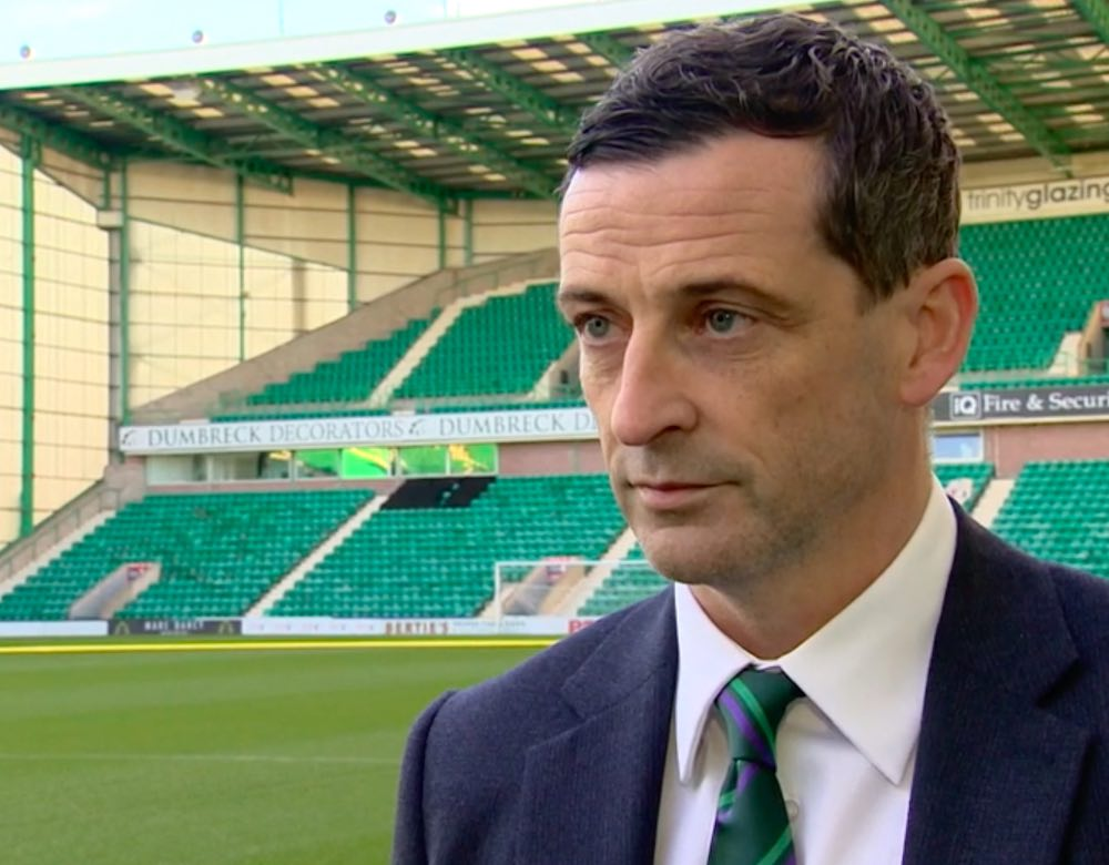 Jack Ross faces the cameras at Easter Road   Hibs news