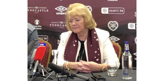 Hearts owner Ann Budge during Daniel Stendel's unveiling | Hearts news