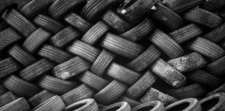 A pile of old tyres