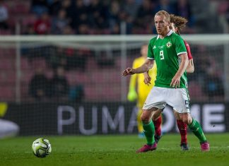 Hearts striker Liam Boyce in action for Northern Ireland   Hearts news
