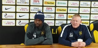 Livingston defender Efe Ambrose with manager Gary Holt | Livingston news