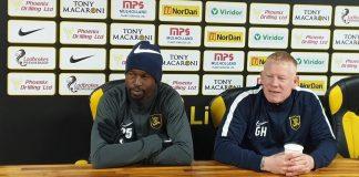 Livingston defender Efe Ambrose with manager Gary Holt | Livingston news