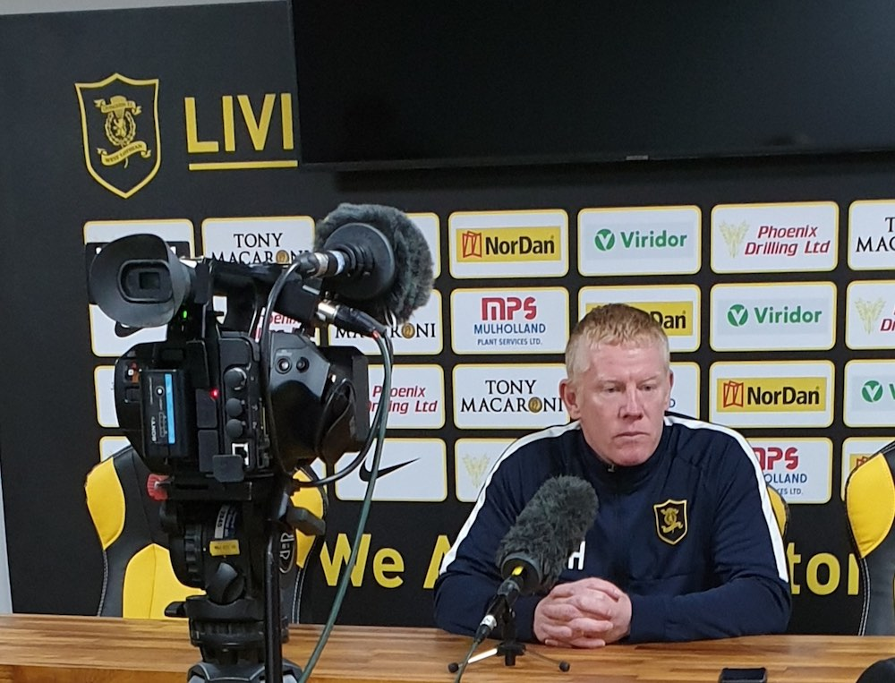 Livingston manager Gary Holt at a press conference | Livingston news