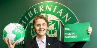 Hibs CEO Leeann Dempster during a press conference | Hibs news