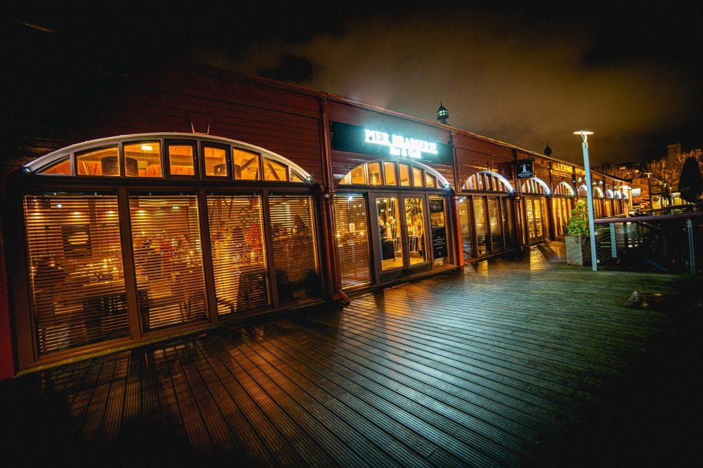 Pier Brasserie restaurant in Edinburgh, Scotland