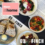 Ox and Finch menu surrounded by meals
