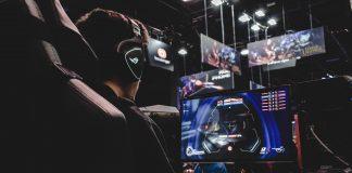 A man gaming at a computer