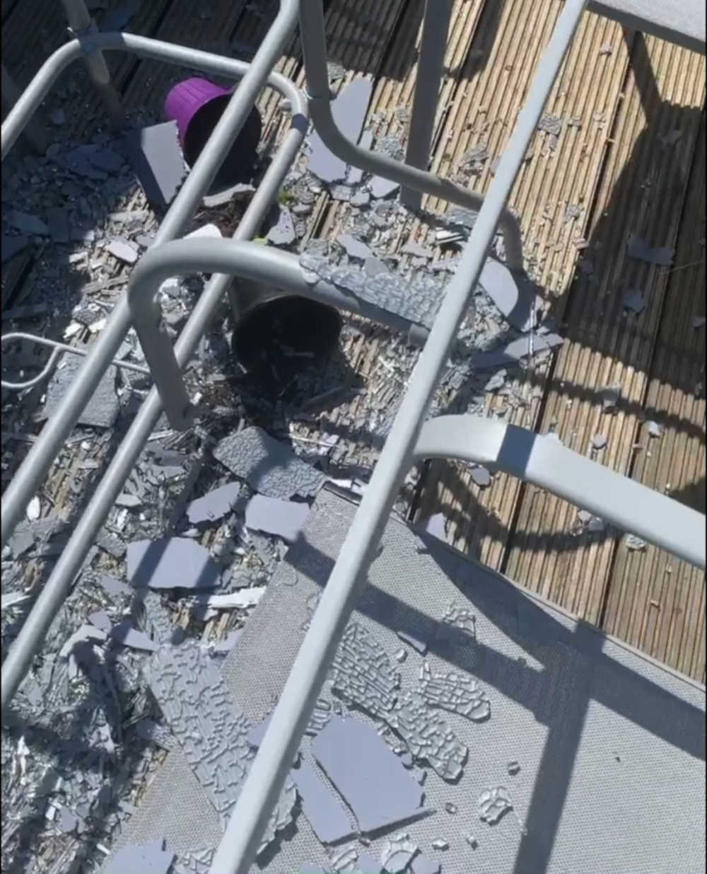 Shattered Argos table