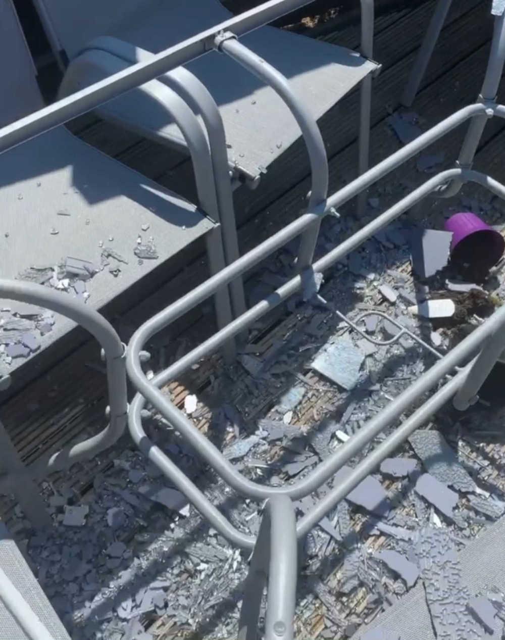 Exploded Argos table