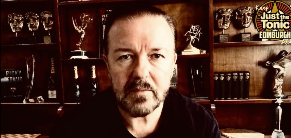 A picture of comedian Ricky Gervais - Deadline News/Scottish Business News