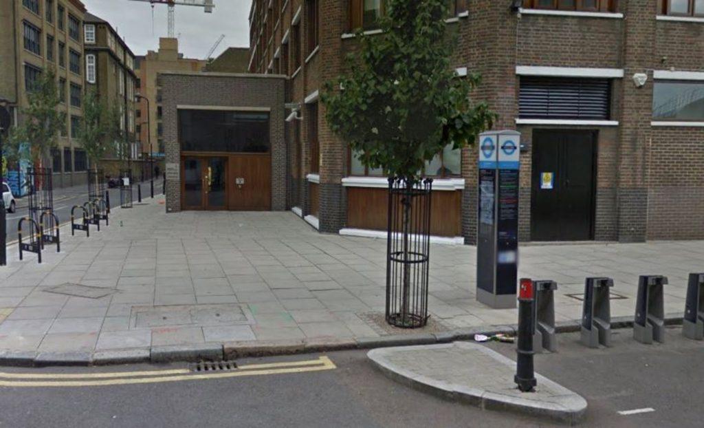 A street view of Amnesty International's HQ were Beyond Politics vandalised