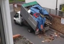 Croydon Council are investigating after a fly tipper was caught dumping in a residential street