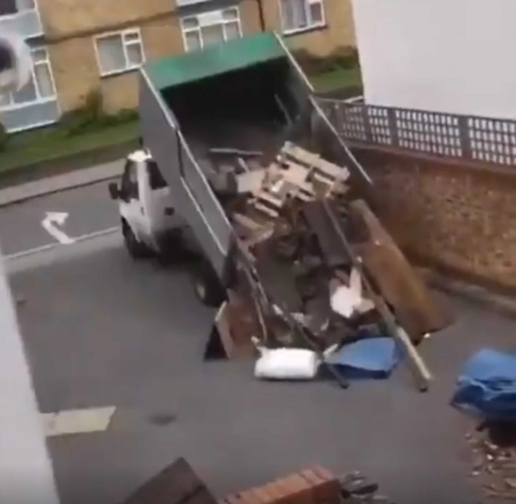 fly tipper was caught dumping in a residential street in Croydon has created a debate on filming