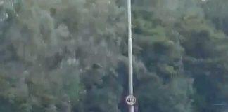 Car loses control A19
