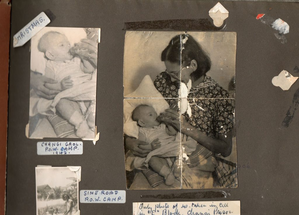 Images of Jenny Martin as a baby who was born in a Japanese prison camp