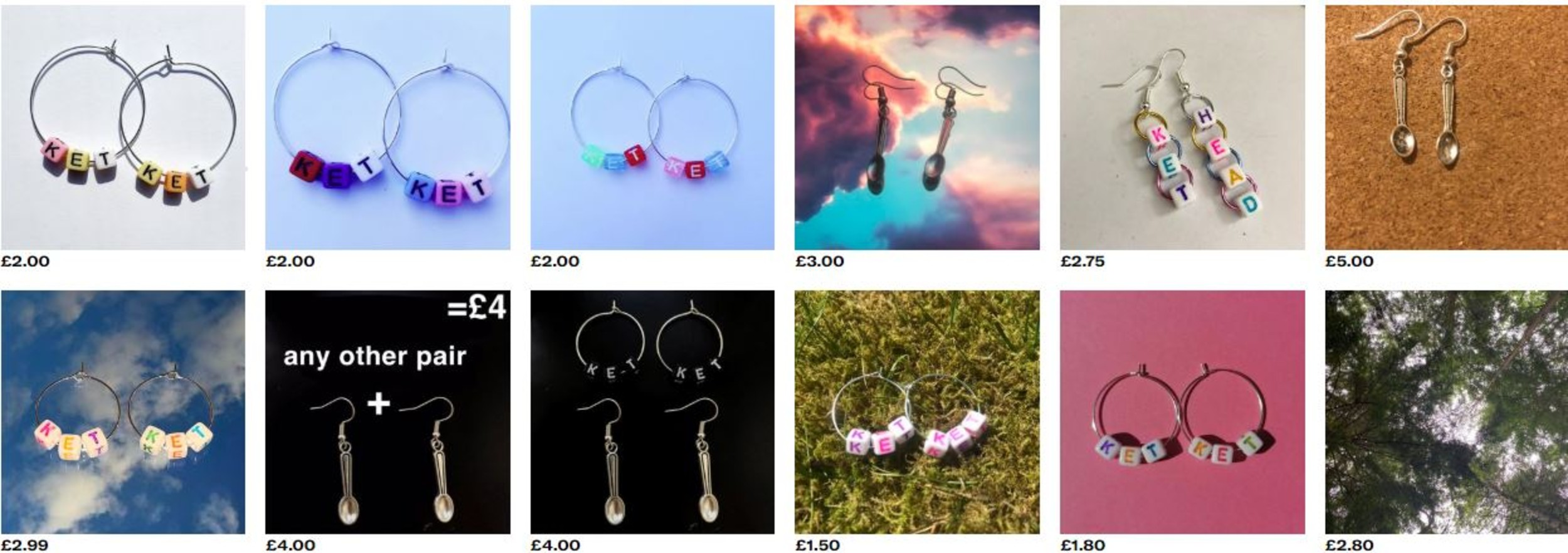 A wide range of drug inspired accessories were available on Depop.- Viral News