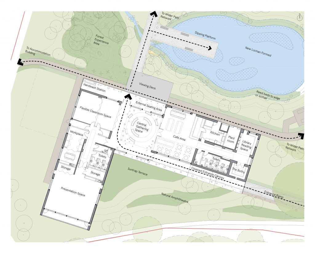 Schematic of the proposal of the World's first rewilding centre after planning approved by council