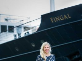 The new Wellbeing Manager Mari-Nel on board Fingal ahead of it's re-opening (C)Ditte Solgaar