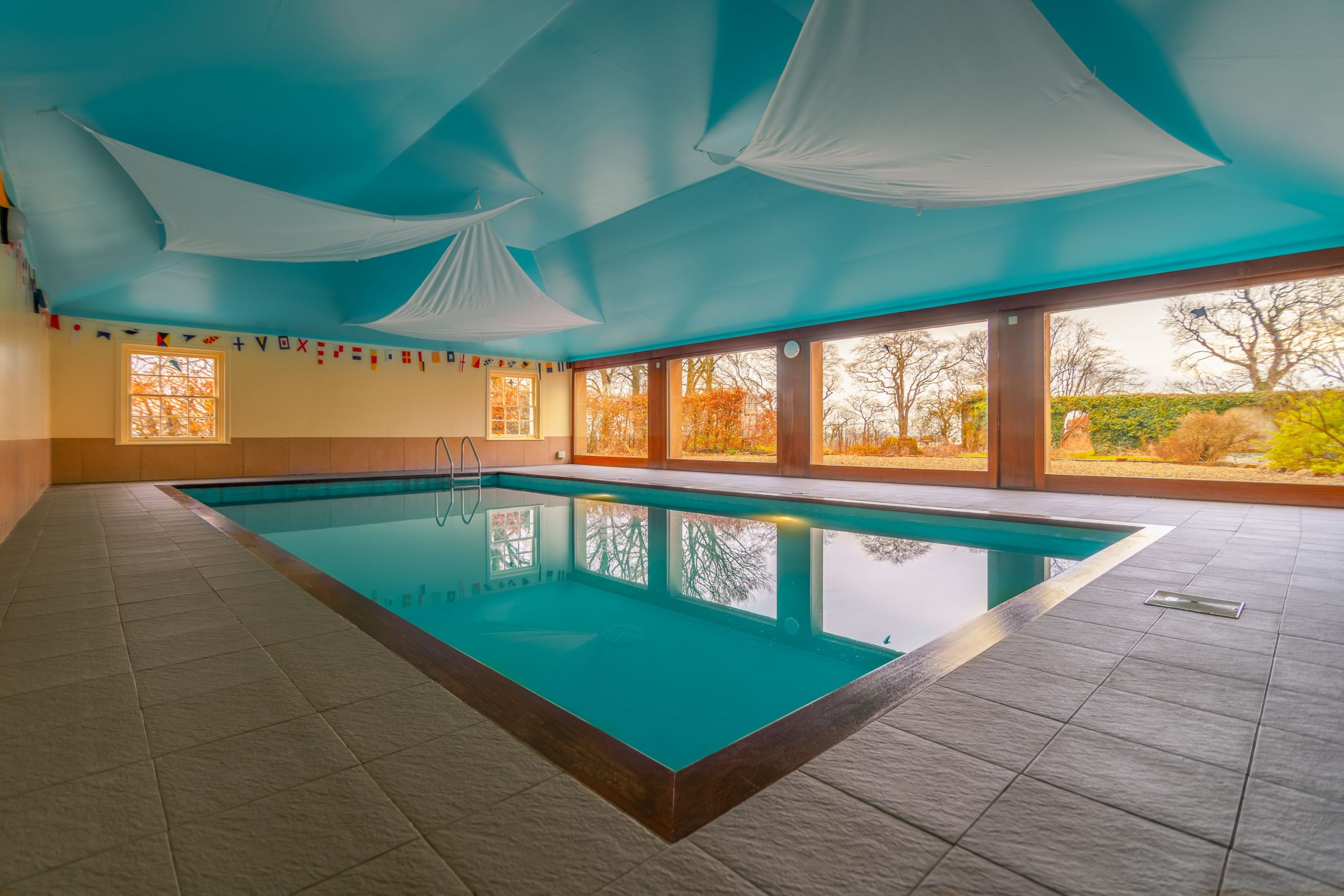 A picture of a pool inside the house of Cragie