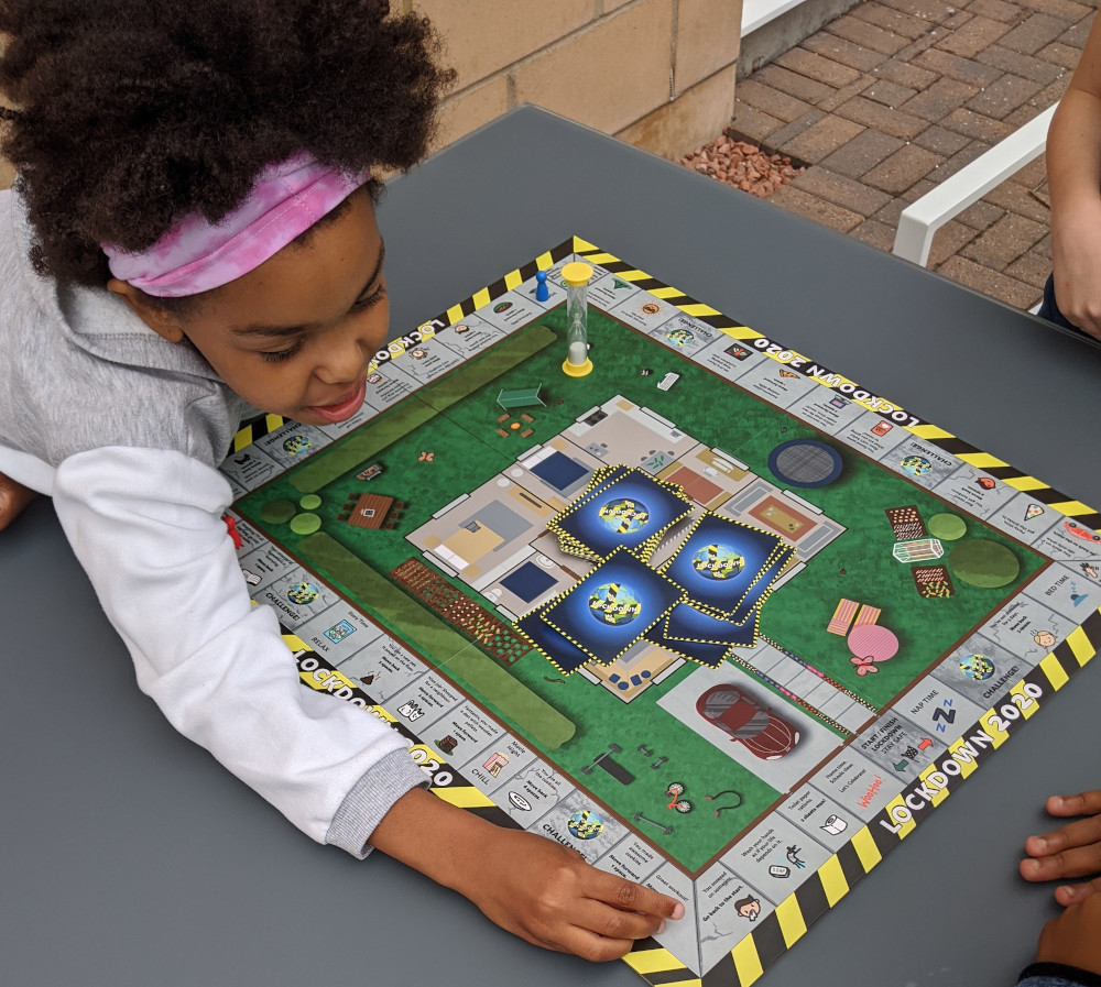 Katie and Kevin McMillan design Lockdown 2020 board game