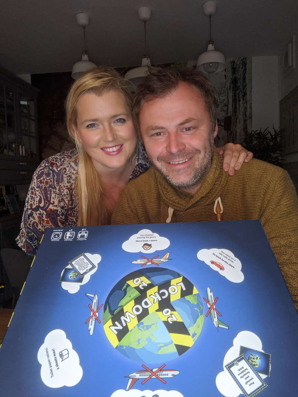 Kate & Kevin McMillan design Lockdown 2020 Board game